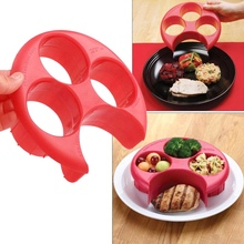 Dinnerware Portion-Control Food-Plate Meal-Measure Lose-Weight Diet-Food Cooking-Tools