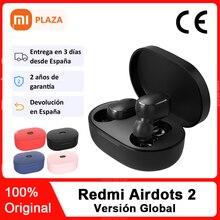 Xiaomi-auriculares inalámbricos Redmi Airdots 2, por Bluetooth 5,0, auriculares estéreo con control de voz y pulsación y reducción de ruido