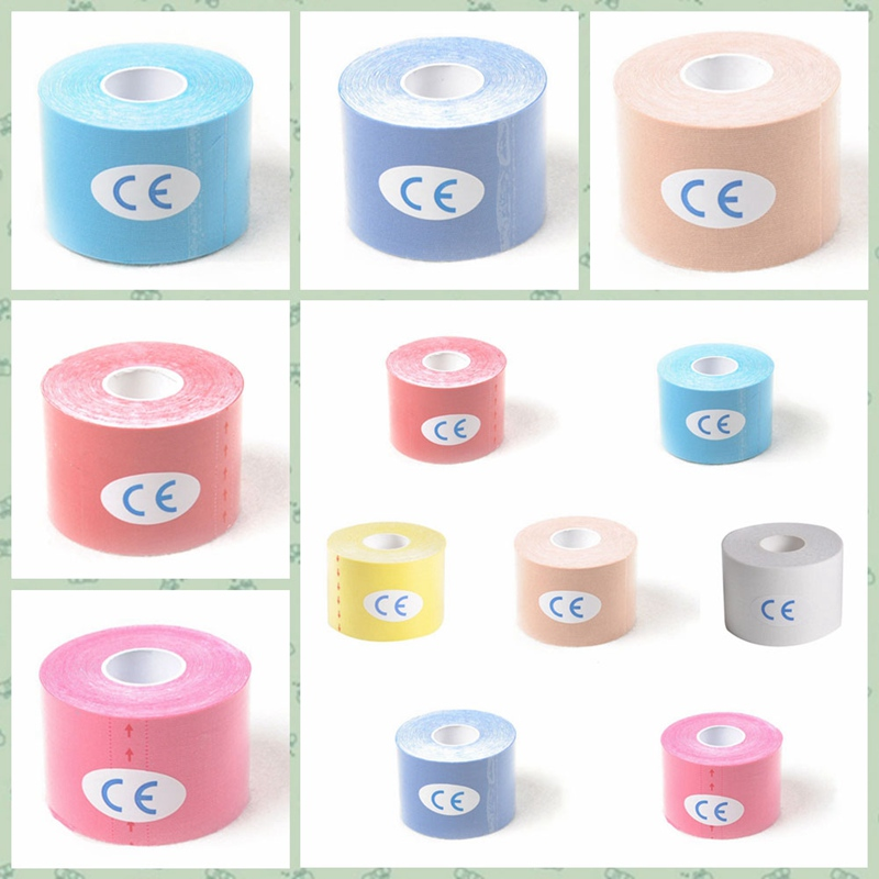 5cm*5M Sports Elastic Cotton Athletic Adhesive Tape Physical Muscle Stray Injury Muscle Tape Strain Protection Tapes