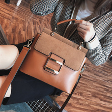Vintage Large Capacity Women Handbags Casual Solid Color Shoulder Messenger Bags Chic Buckle Pu Tote Brand Purse