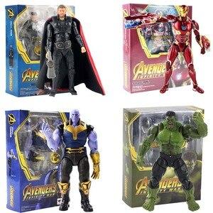 Avengers 3 Figure Iron Man Thor Spiderman Captain Amerikaanse Thanos Shf Action Figure Pvc Collectible Model Toy