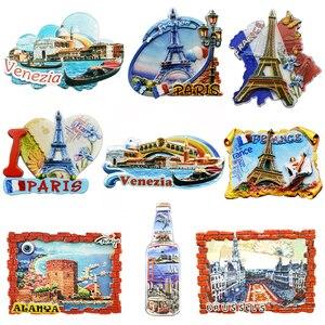 Image 1 - Сувенирные магниты на холодильник, кантри Париж, резиновая наклейка на холодильник, путешествия, Турция, Италия, сувенирные магниты для Греции, холодильников, туристов