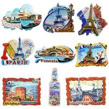 Ímãs de geladeira da souvenir, ímãs de geladeira do país paris, resina, adesivo de viagem, turquia, itália, lembrança, ímãs para geladeiras, turista grécia