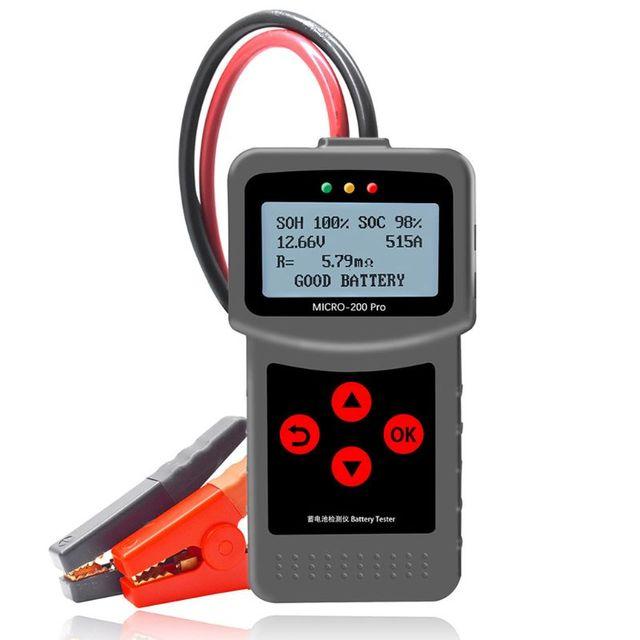 MICRO 200PRO probador de batería Digital para coche, pieza de descarga, 3XUB