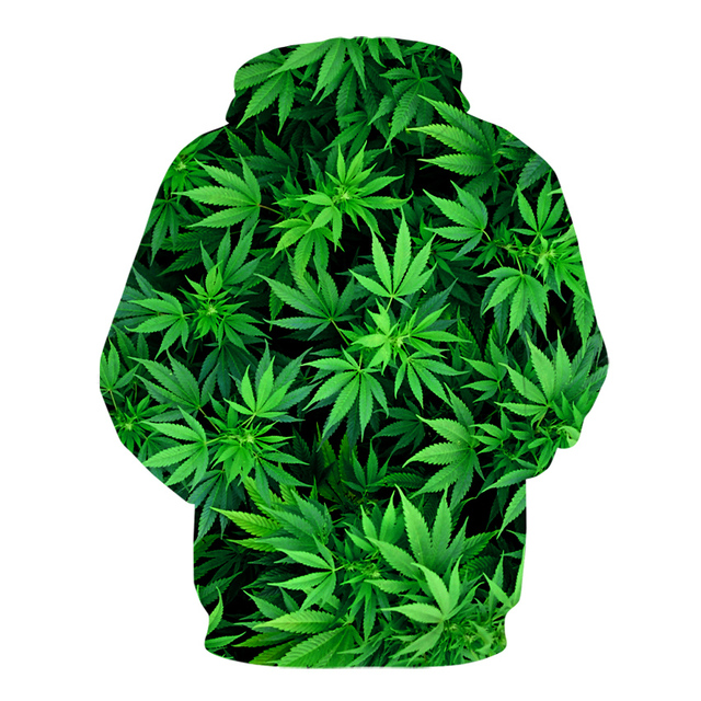 Men clothes 2020 autumn and winter 3D Printed green Leaf Men/Women Hoodies high Quality funny sweatshirts oversize jacket coats 2