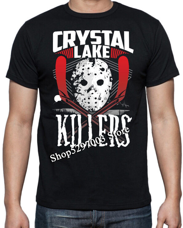 Friday 13Th Camp Crystal Lake Jason Voorhees 80'S Horror Slasher Movie T Shirt Harajuku Funny Tee Shirt image