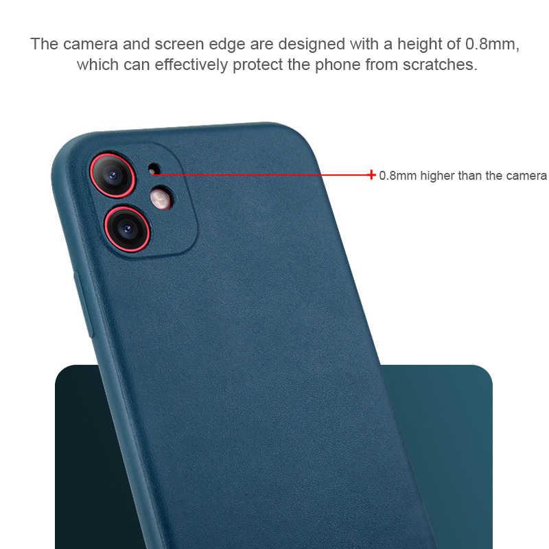 Baru Ultra Tipis Ponsel Case untuk iPhone 11 Pro Max 6 6S 7 7 Plus XR X XS se 2020 Pria Cover Kulit Lembut TPU Case Shell Mewah