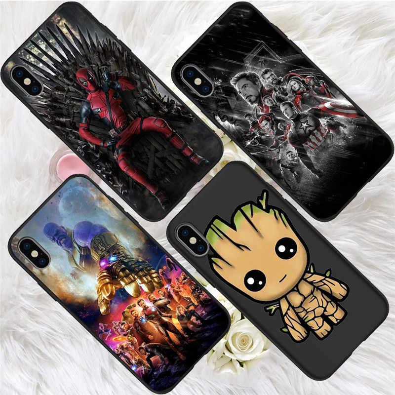 Marvel vengadores para iPhone X XR XS Max 5 5S SE 6 6S 7 8 Plus Oneplus 5T funda para teléfono Pro 6T funda capinha capa