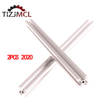 2pcs/Set 2020 Aluminum Profile T-Slot Aluminum Extrusions CNC 3D Printer Parts European Standard Anodized Linear Rail 100-2000mm