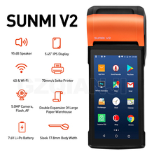 Thermal-Receipt-Printer Pos-Terminal-Sunmi Wifi Bluetooth Android Restaurant Handheld