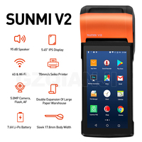 SUNMI V2 V1s PDA Android Handheld POS Terminal With 58mm Thermal Receipt Printer cash registers For Mobile Order eSIM 4G WiFi