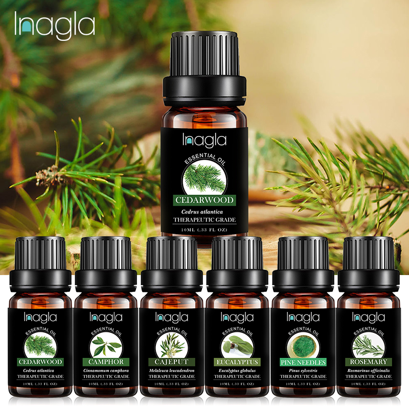 Inagla 10ML Cedarwood Essential Oils 100% Pure Natural Pure Essential Oils For Aromatherapy Diffusers Oil Home Air Care