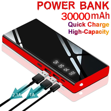 30000mAh Power Bank for IPhone Xiaomi Samsung External Battery Portable LED Power Bank Mobile Phone Charger 2 USB Power Bank most powerful solar power bank external battery power bank charger 30000mah for smart mobile phones tablet pc