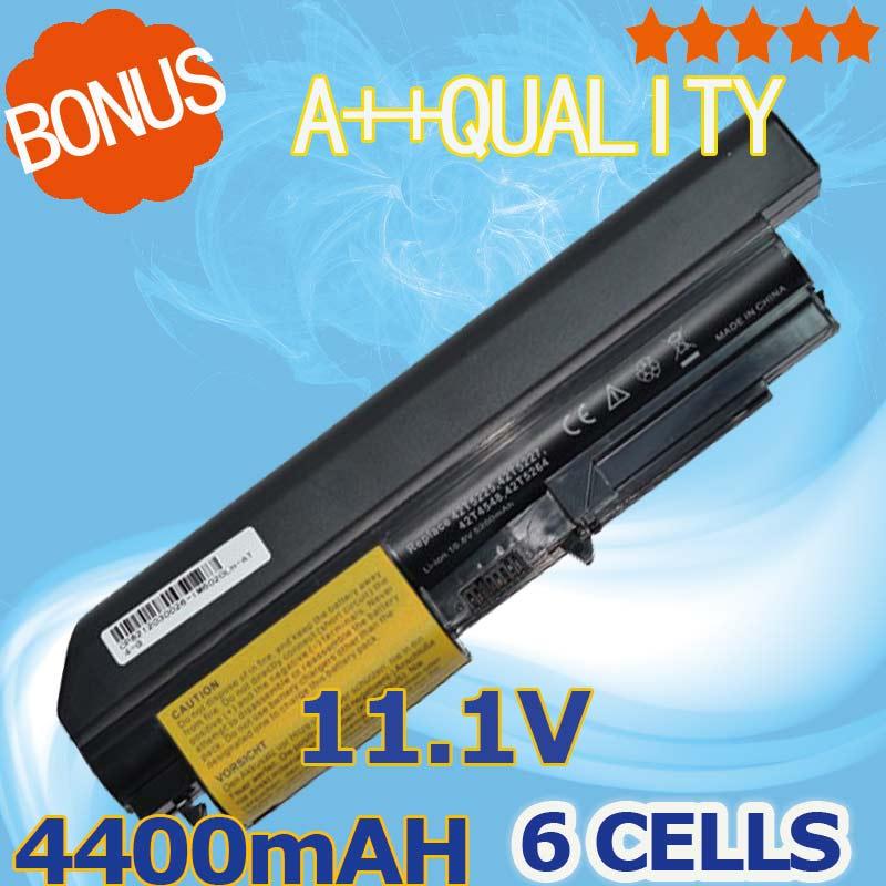 """6 BATTERIA cella per Lenovo ThinkPad R61 R61i T61p T61u 14.1/"""" widescreen R400 T400"""
