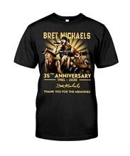 Bret michaels 35th aniversário assinatura obrigado para as memórias camiseta legal para amantes da música masculina