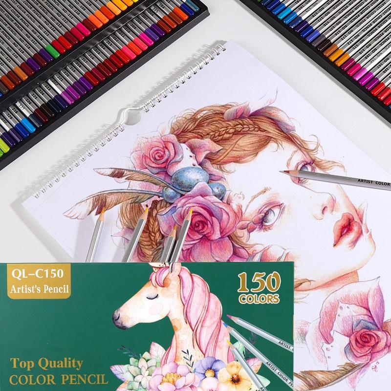 150 colores lápices De colores De madera conjunto De lapisde co artista pintura color aceite lápiz para escuela dibujo materiales para dibujo y Bellas Artes