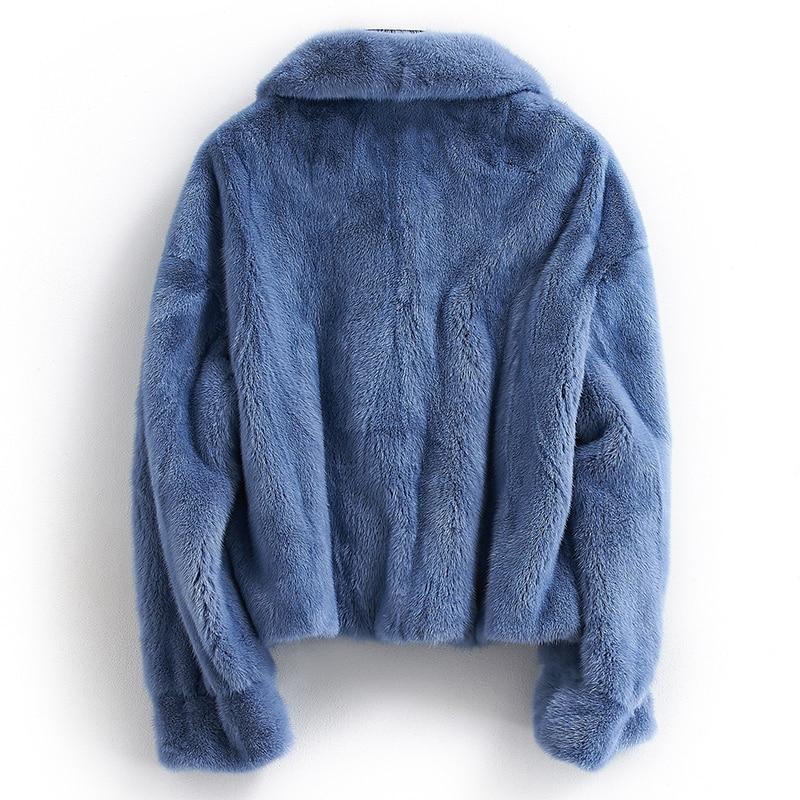Fur Mink Real Coat Female Luxury Natural Fur Jackets Winter Jacket Women Clothes 2020 Short Warm Coat Chaqueta Mujer MY