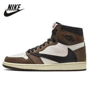 Original 2020 New Nike Air Jordan 1 High OG TS SP Men Shoes Sneaker Outdoor Sport Running Invert LOGO
