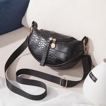 PU Leather Trend torebka damska 2021 New Fashion torba na klatkę piersiowa wzór krokodyla Zipper damska torba na ramię luksusowe torebki tanie i dobre opinie HEONYIRRY poduszka Torby na ramię Na ramię i torby crossbody CN (pochodzenie) SOFT wytrzymała torba moda POLIESTER Versatile