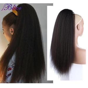 Blice Synthetic 18-24 inch Kinky Straight Heat Resistant Hair Ponytail Extensions With Two Plastic Combs All Colors Available