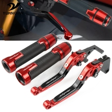 цена на Motorcycle CNC Adjustable Brake Clutch Lever Handlebar Hand Grip Set FOR HONDA CB599 CB600F HORNET 1998-2006 1999 2000 2004 2005
