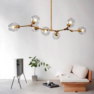 Image 2 - Dropshipping nórdico moderno pingente luzes designer de vidro pedante lâmpadas arte decoração luminárias para barra jantar sala estar