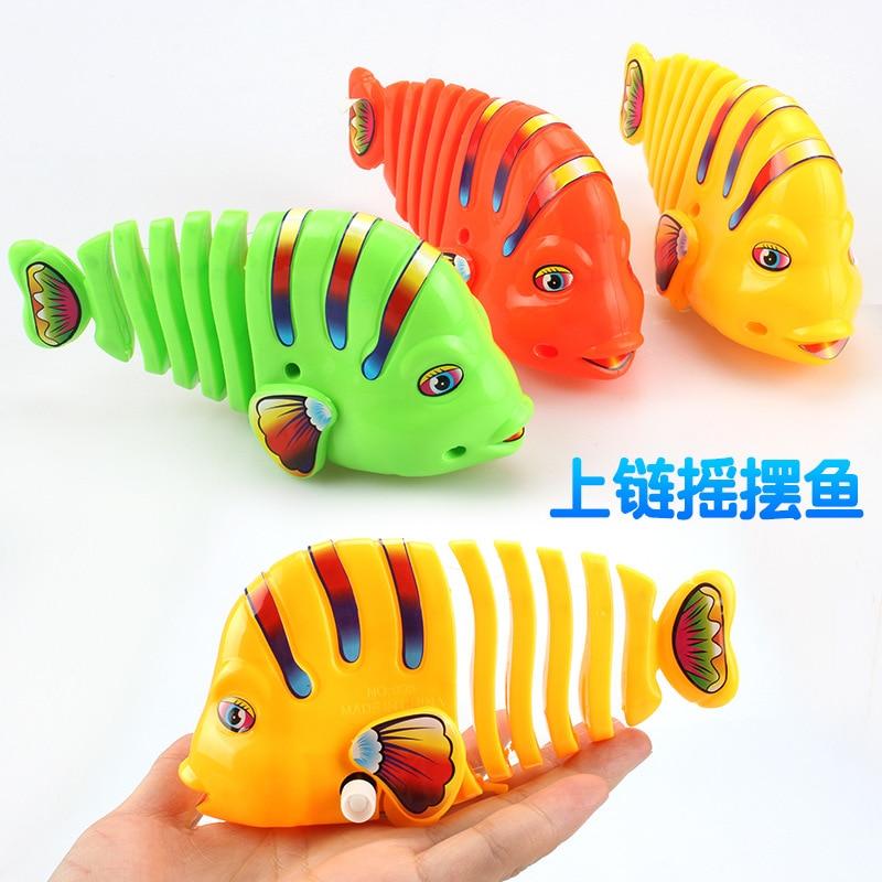 Winding Big Fish-Winding Sway Fish Spring Sway Cartoon Fish-Winding Toy Fish Di Tan Hot Selling