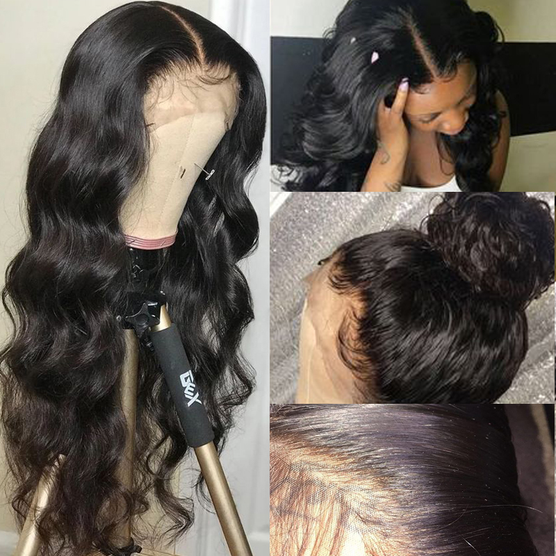 Malaysian Body Wave Lace Front Human Hair Wigs For Women 13*4 13*6 360 Remy Lace Front Wigs Pre Plucked With Baby Hair 150%