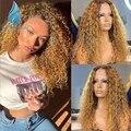 Поверхностный монтаж 13*4 Омбре медовая Блондинка кружевной передний парик из человеческих волос с детскими волосами бразильские неповрежд...