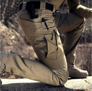 Cargo-Pants Outdoor-Trousers Multi-Pockets Military Hiking Tactical Waterproof Men Fashion