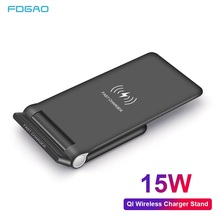FDGAO QC 3.0 Quick Wireless Charger 15W Qi Fast Charging Stand For Samsung S9 S10 Note 10 For iPhone X XS MAX XR 8 Plus Airpods
