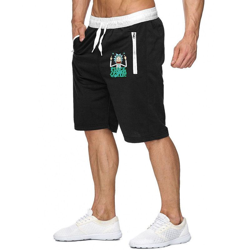 Lovely Shorts Cool Rick Morty Men's Casual Summer Shorts Sexy Sweatpants Rick And Morty Fitness Bodybuilding Workout Man Shorts