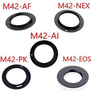 Image 1 - 10 sztuk/partia dla M42 EOS M42 AI M42 AF M42 PK M42 NEX aluminium M42 śruba do mocowania obiektywu adapter do canona Nikon Sony pentax camera obiektyw
