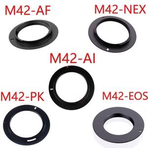 Image 1 - 10pcs/lot For M42 EOS M42 AI M42 AF M42 PK M42 NEX Aluminum M42 Screw Mount Lens Adapter For Canon Nikon Sony pentax camera lens