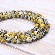 Wholesale Yellow Peacock Natural Stone Beads Round Beads Loose Beads For Making Diy Bracelet Necklace 4/6/8/10/12MM