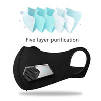 Electric Smart Air Purifier Air Purifying Face Mask N95 HEPA Filter Industry Smart Body Smog Air Purification Protective Mask