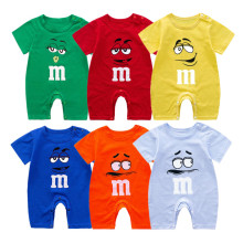 2021 Cheap Cotton Funny Baby Romper Short Baby Clothing Summer Unisex Baby Clothes Girl And Boy Jumpsuits Ropa Newborn Pajamas