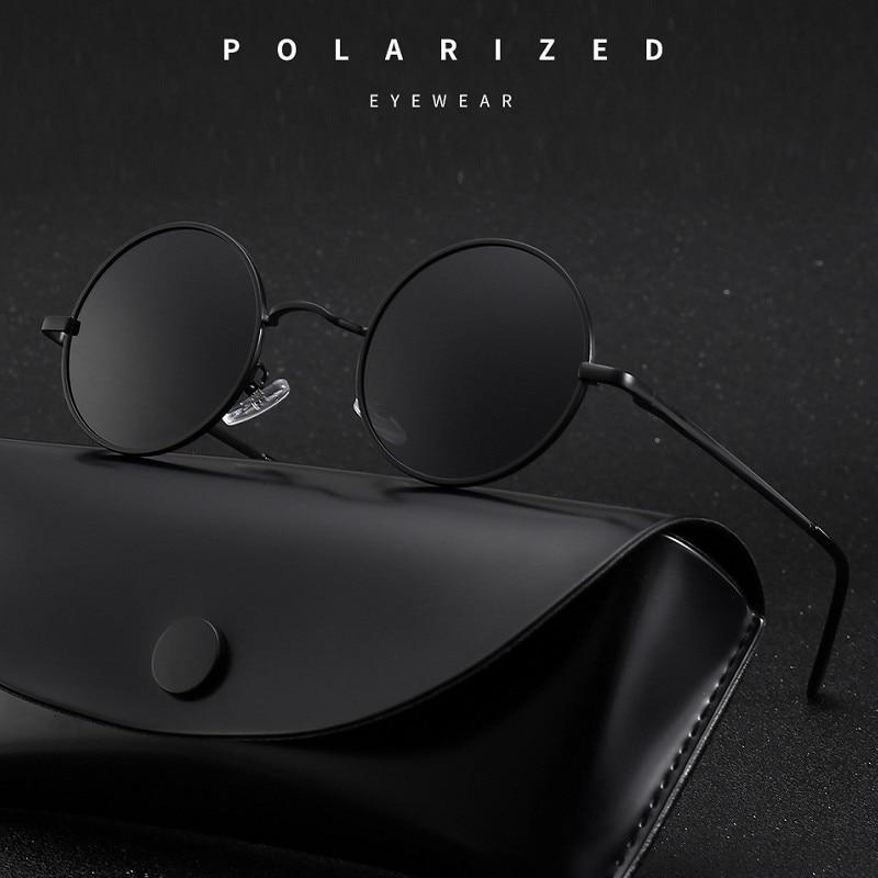 MYT_0279 Brand Designer Round Polarized Sunglasses Men Women Retro Sun Glasses Male Female Metal Frame Eyewear Driving UV400