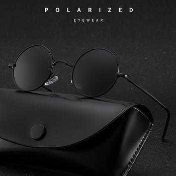 MYT_0279 marka projektant okrągłe spolaryzowane okulary mężczyźni kobiety Retro okulary męskie kobieta metalowa rama okulary jazdy UV400 tanie i dobre opinie Aoron ROUND Dla osób dorosłych STOP polaryzacyjne 46mm Polaroid
