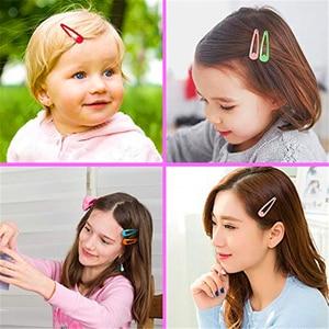 Image 5 - 5cm לערבב מוצק צבע מתכת Hairgrip בנות הצמד שיער קליפים לילדים בייבי שיער אביזרי נשים סיכות קליפ סיכות BCC05