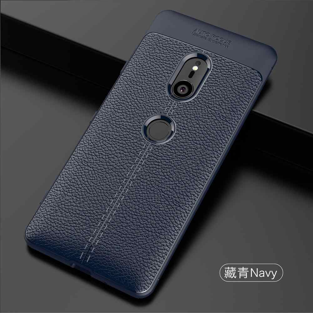 Molle di Tpu Imitazione di Cuoio Cassa Del Telefono per Sony Xa Ultra Xperia Xz Xzs Premium Xz1 Compatto Xa1 10 Più xperia XZ2 Xa 2 Ultra XZ3