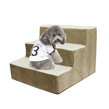 Hot Dog House Stairs Pet 3 Steps For Small Cat Ramp Ladder Anti-slip Removable Dogs Bed Supplies