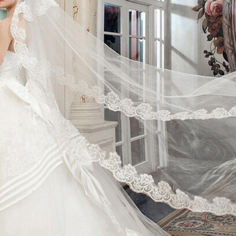 Wedding Bridal 2 Meters 3 Meters Long One Layer Veil Elegant Wedding Accessories