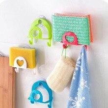 Home Storage Bathroom Shelf Sucker Hooks New  Soap Dish Towel Rack Sponge Kitchen Accessories