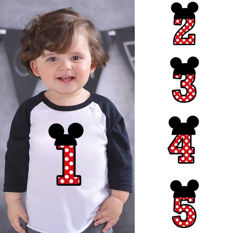 LYTLM Mickey Nummer 1-5 Gelukkige Verjaardag T-shirt Jongens T-shirt Merk Kids Meisjes Tops Jongens T-shirts Voor herfst Anniversaire Enfant