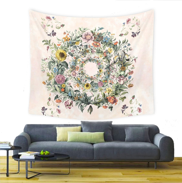 Floral Patterned Wall Tapestry 2