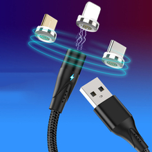 Round Magnetic Cable 3A Fast Charging USB Cable for iPhone charger Micro USB Cable Magnetic Charging USB Type C Cable USB-C Wire