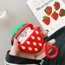 3D Cute Fruit Silicone Protective Cover Case Bag for Apple AirPods OUJ99