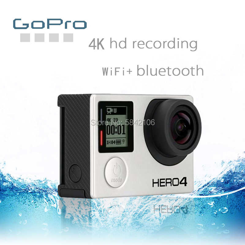 GoPro HD HERO 4 Silver Action GOPRO HERO 4 กล้องกีฬากันน้ำ Ultra CLEAR 4K