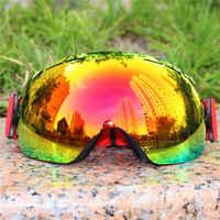 Licht ski brille doppel objektiv schichten UV400 anti fog big ski maske brille skifahren männer frauen schnee snowboard brille Winter brillen